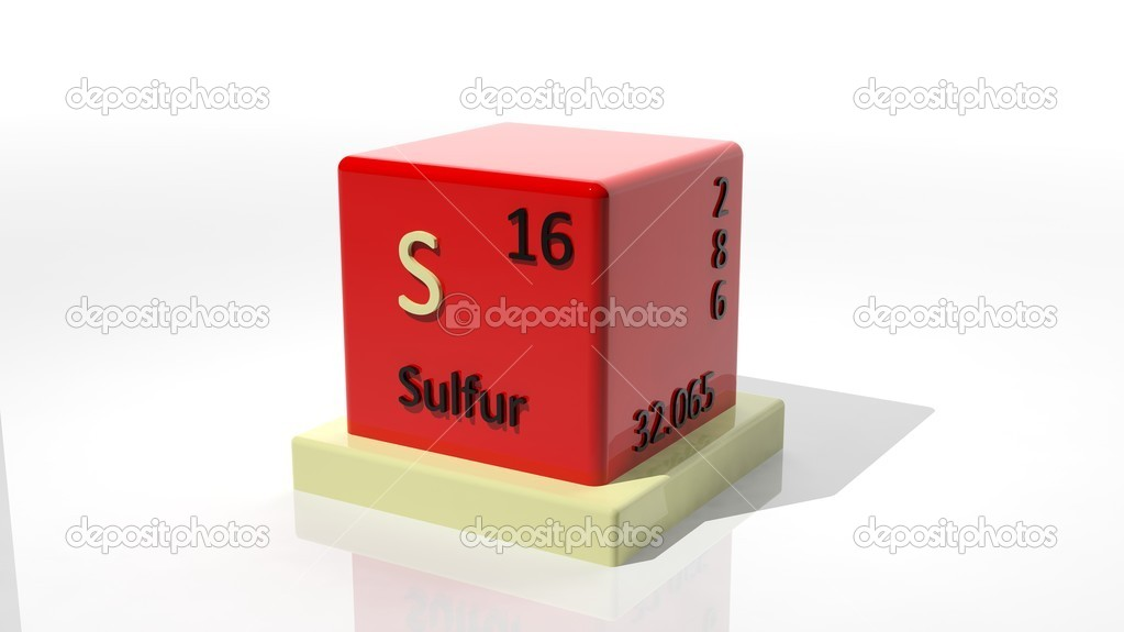 Sulfur 3d Chemical Element Of The Periodic Stock Photo Viperagp