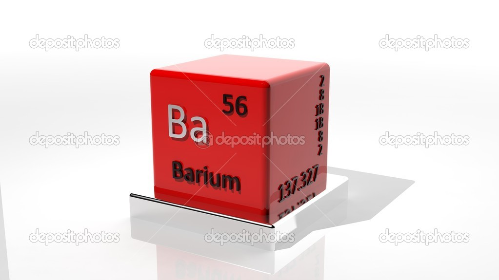 Barium 3d Chemical Element Of The Periodic Table Stock Photo