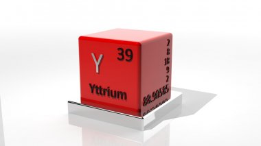 Yttrium, 3d chemical element of the periodic