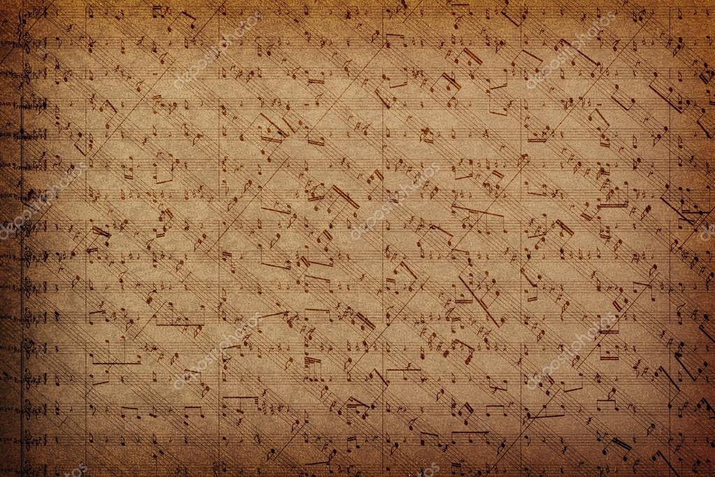 Music notes on fabric texture background