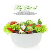 Fotografie Fresh mixed vegetables salad in a bowl