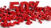 3D rendering ötven százalék-szimbólum