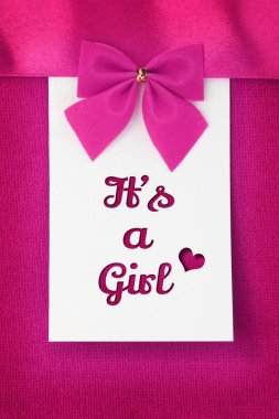 Its a Girl, baby arrival announcement