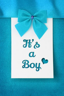 Its a Boy, baby arrival announcement