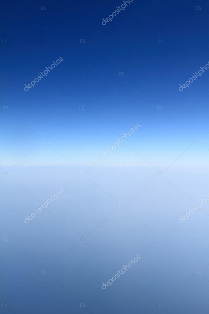 Blue horizon, aerial shot