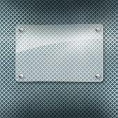 Fotografie kovový dekorativní pozadí abstraktní s skleněných rámce