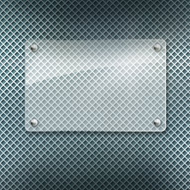 Abstract metal textured background with glass framework