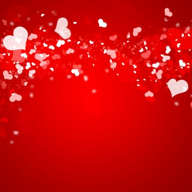 Valentines red abstract background with copyspace stock vector