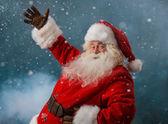 Santa claus přivítání na severní pól