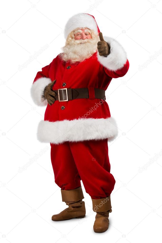 santa claus standing on white background stock photo - White Santa Claus