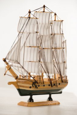 Wooden ship toy model