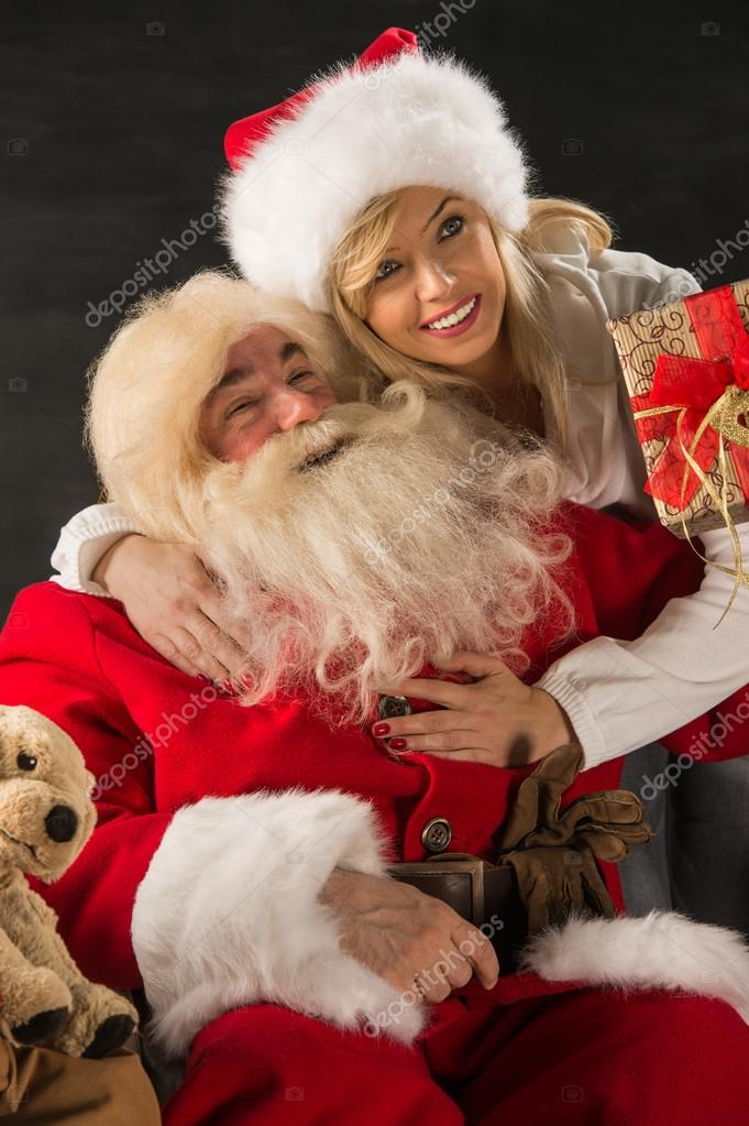 Photo Of Santa Claus With His Wife Stock Photo C Hasloo 36110817