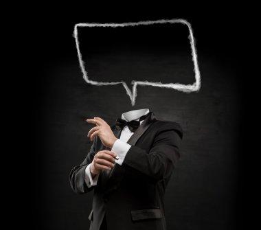 Man speech bubble head