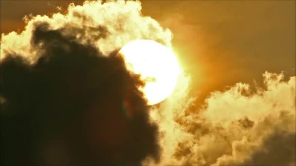 Tropical Sun Behind Cloud