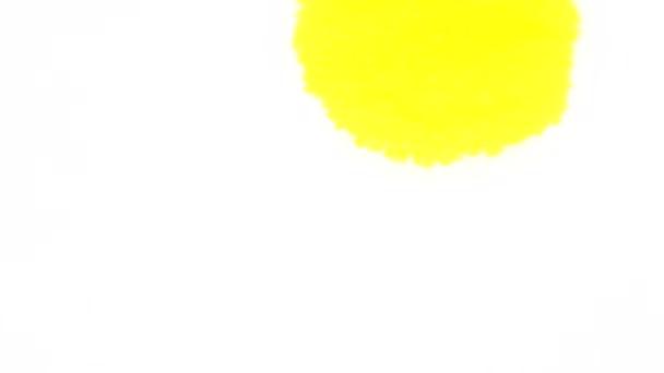 žlutá a červená kapka