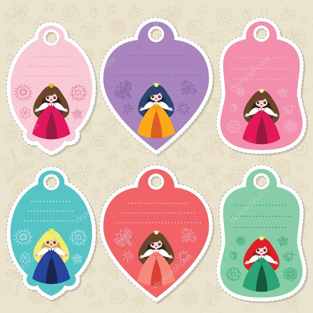 Cute princess gift tags