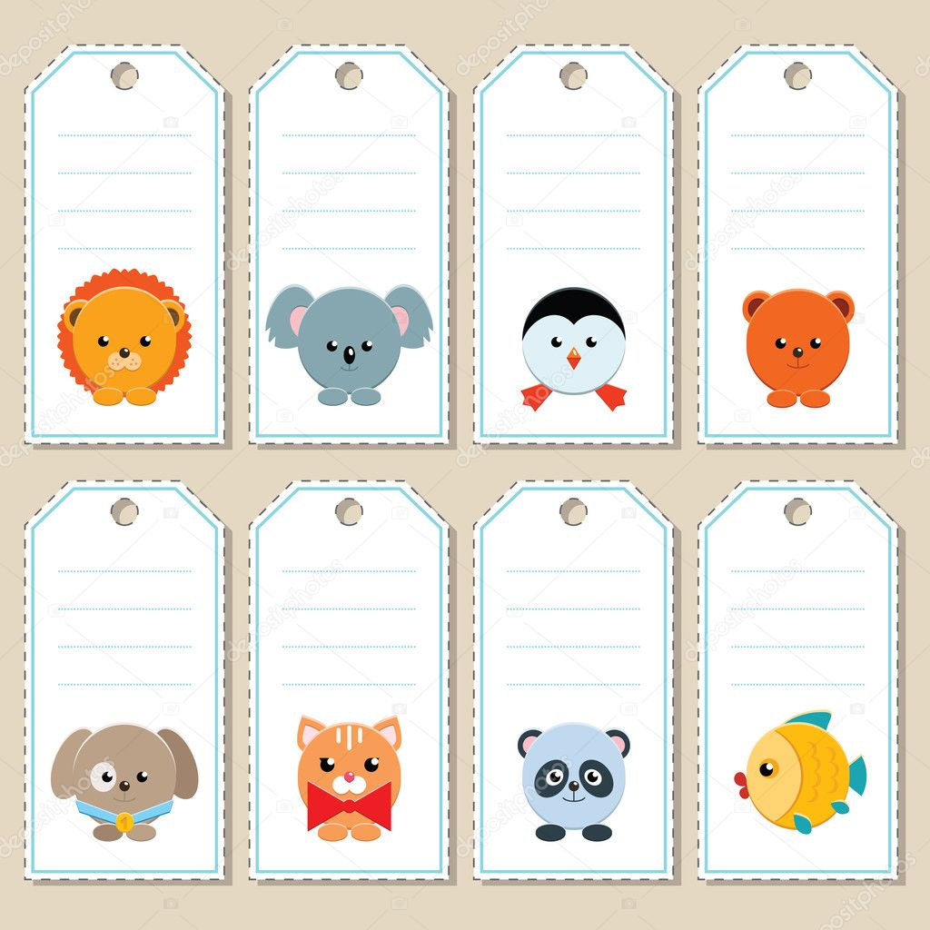 Gift tags with animals