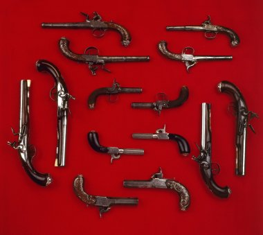 A lot of old gun