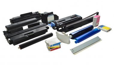 Spare parts and cartridges for printers.
