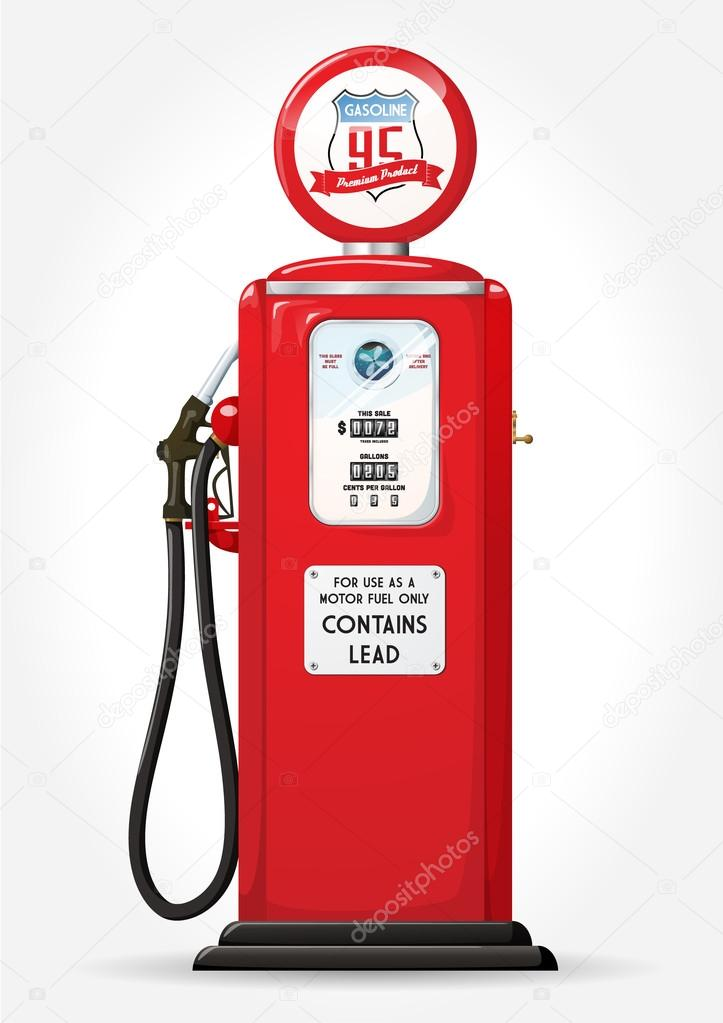 gasoline pump retro stock vector nevada31 19771903. Black Bedroom Furniture Sets. Home Design Ideas