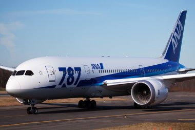 ANA Boeing 787 in Everett Washington