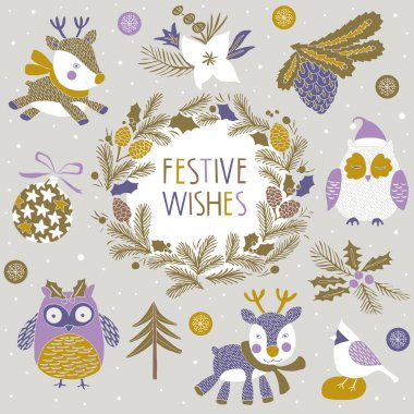 Festive Wishes Print Design