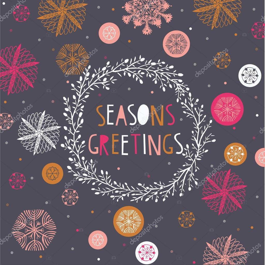 Seasons Greetings Print Design