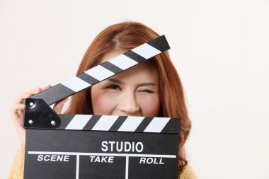 Girl with Movie Slate