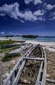 Kenya, Watamu Beach (Malindi), fishing boats ashore