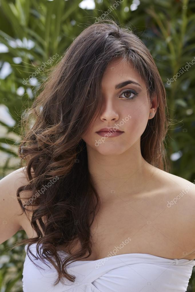 Italy, Sicily, young girl portrait