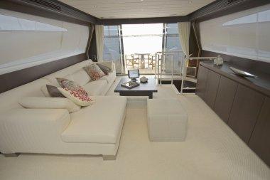 Luxury yacht, dinette