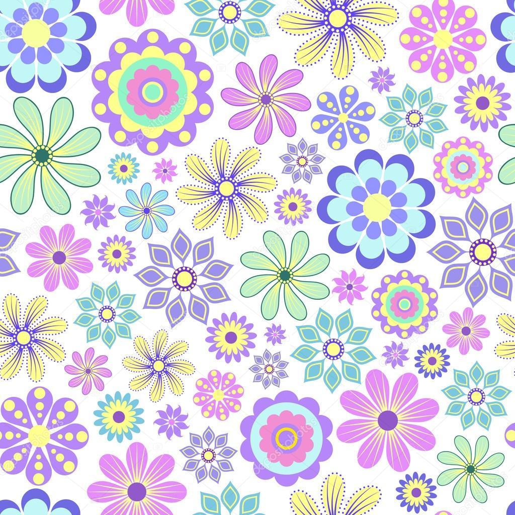 Pastel flower on white background.