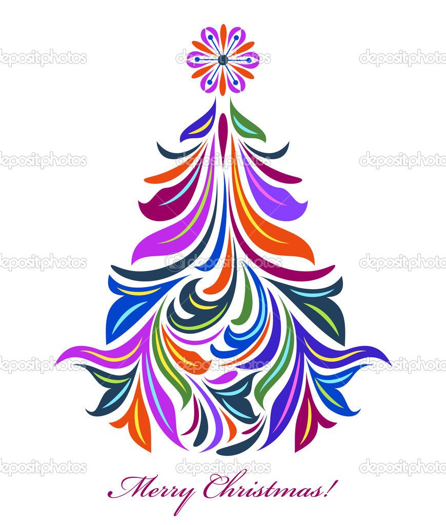 Abstract christmas tree — Stock Vector © kiyanochka #12449653