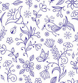 Photo Seamless pattern with abstract flowers