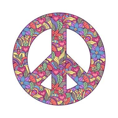 peace symbol on white background