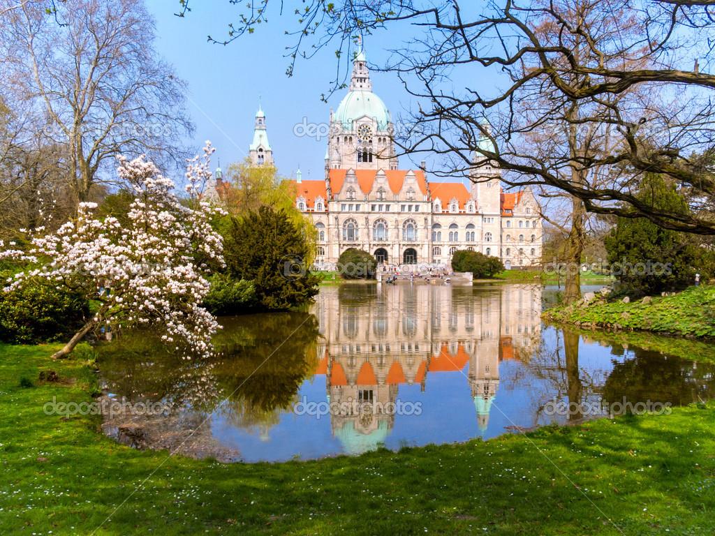 Neus Rathaus Hannover Stockfoto Meggan 12496587