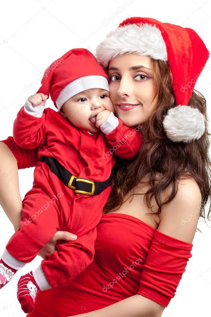 Fotos Mama Noel Para Descargar Mama Y Bebe Vestido De Papa Noel - Bebes-vestidos-de-papa-noel
