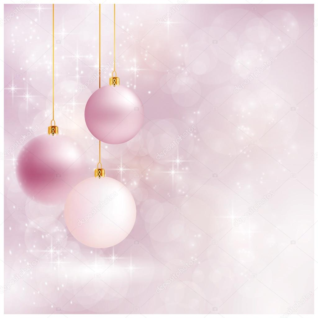 Soft and blurry Christmas background with baubles