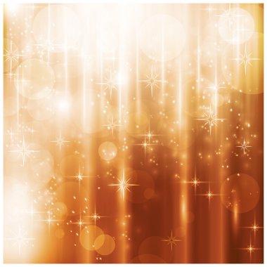 Sparkling lights and stars Christmas card