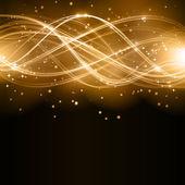 Fényképek Absztrakt arany hullám minta, a csillagok