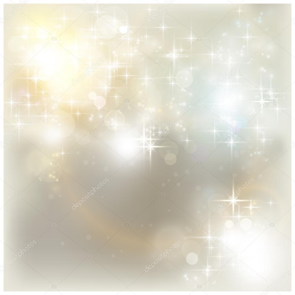 silver christmas lights stock vector 14233563 - Silver Christmas Lights