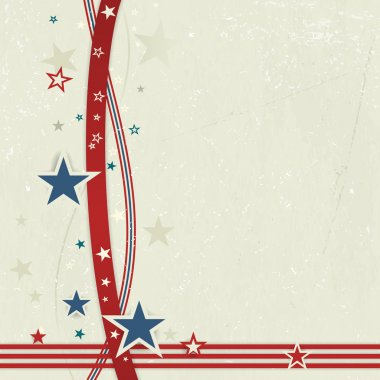 USA patriotic background in red, blue and off white.