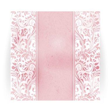 Floral distressed invitation card