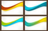 Fényképek meg a színes hullám sablonok, bannerek