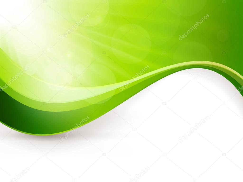 Abstract green light burst background