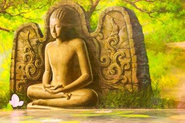"""Картина, постер, плакат, фотообои """"картины будды в таиланде картина пейзаж живопись все"""", артикул 24353421"""