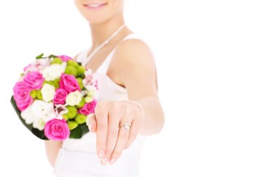 Bride and her ring