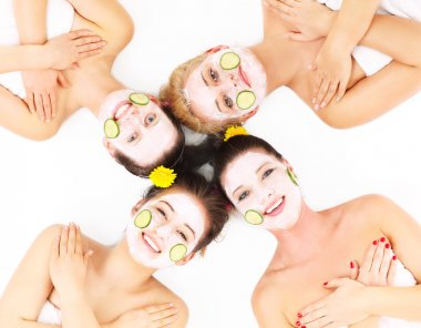 Group of womans in spa