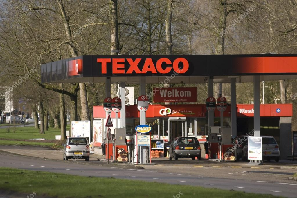 Texaco filling station, Eindhoven, The Netherlands – Stock