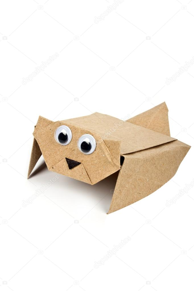 Flying Squirrel Origami Stock Photo